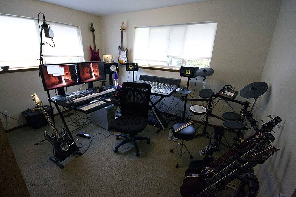 Typical Home Recording Studio Setup