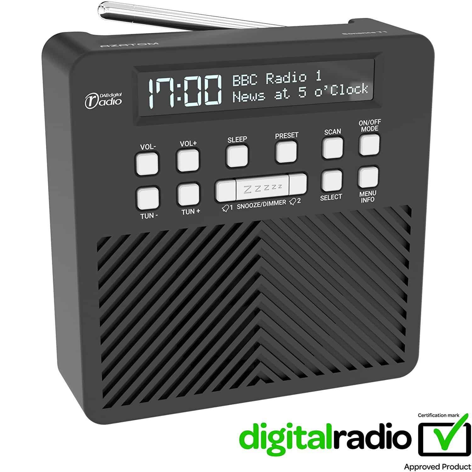 AZATOM Sonance T1 DAB Digital FM Radio Alarm Clock