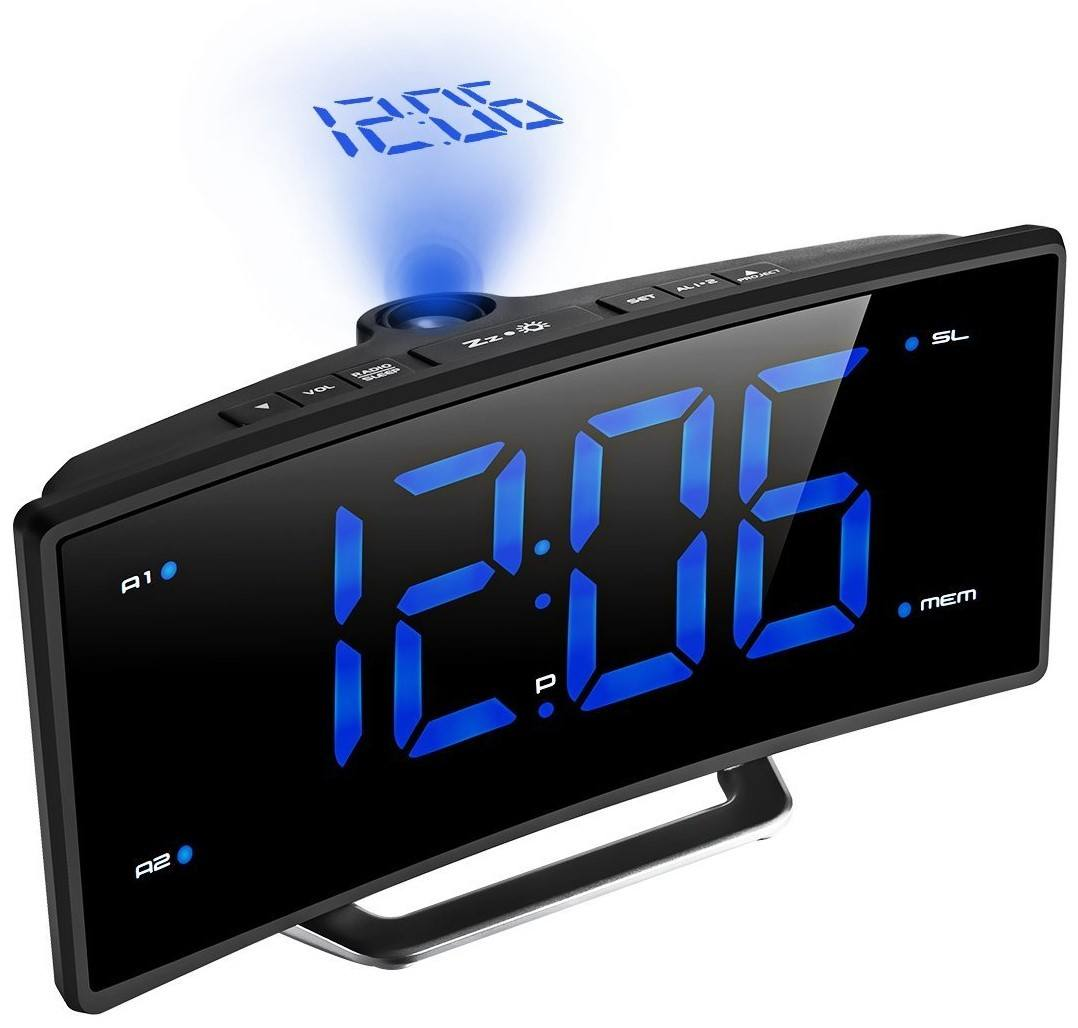 Mpow Projection Alarm Clock with FM Radio