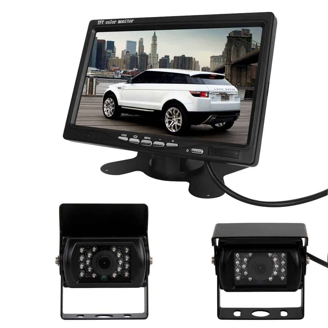 Pathson Car Rear View Kit for Bus Truck 7-inch LCD Monitor