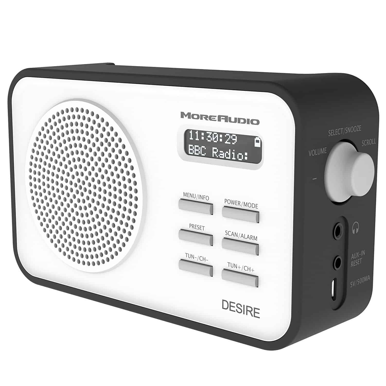 Portable Rechargeable DAB Radio – More Audio