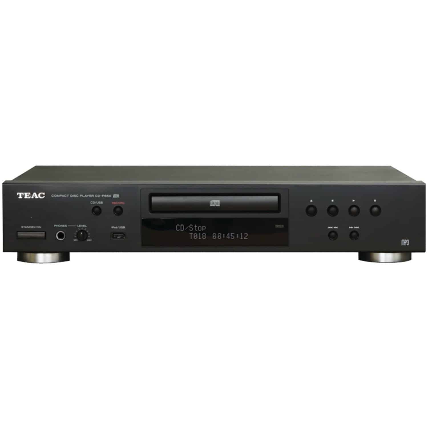 Teac CD-P650 Compact Disc Player with USB Recording (Black)