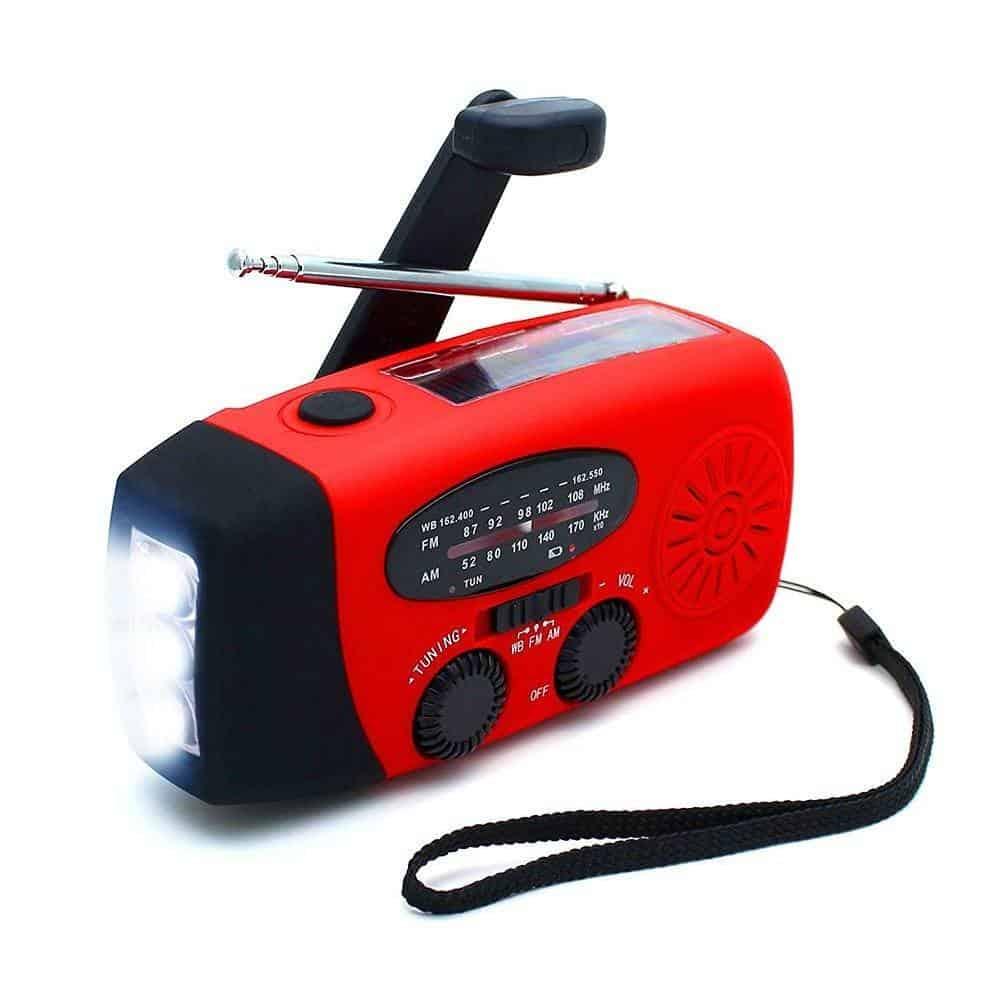 ANTOPM Wind Up Radio, Solar Radio, Hand Crank Emergency Radio