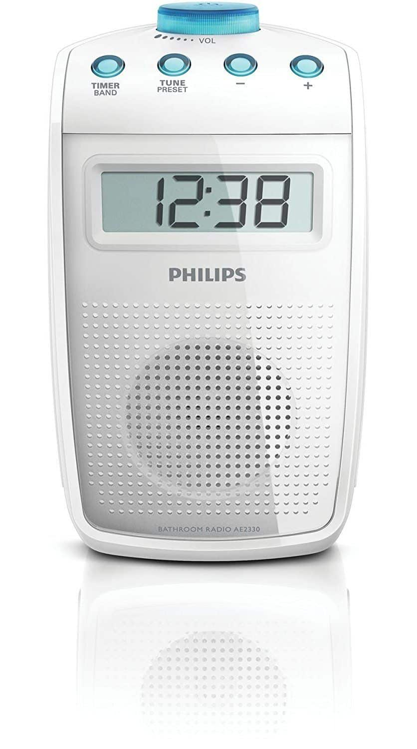 Philips AE2330 00 Bathroom Splash Proof Clock Radio
