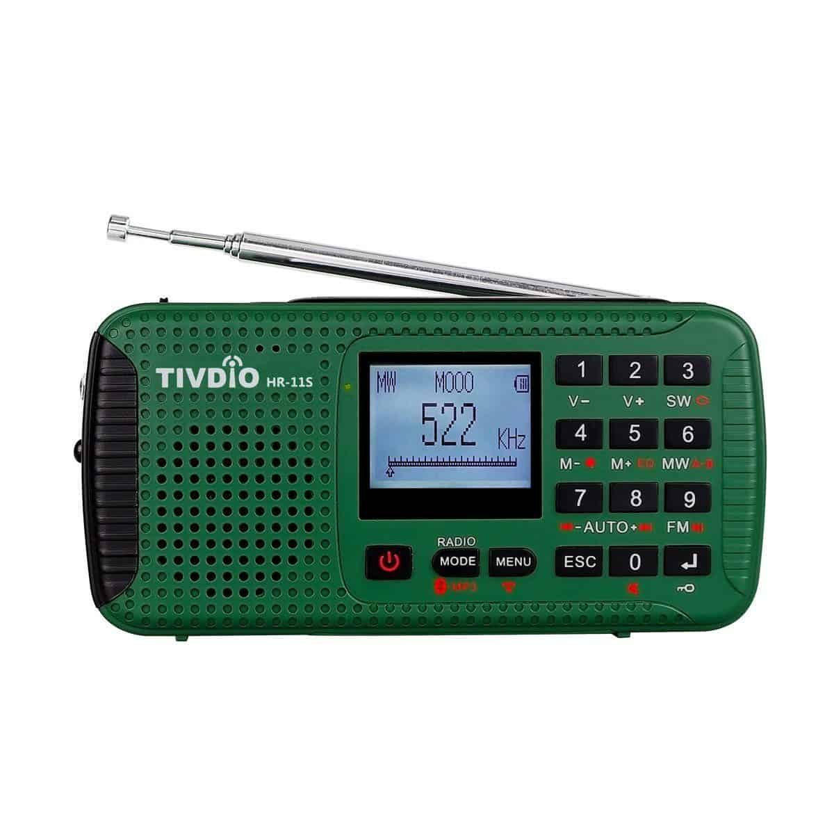 Tivdio HR-11S Portable Radio Rechargeable Wind Up Radio