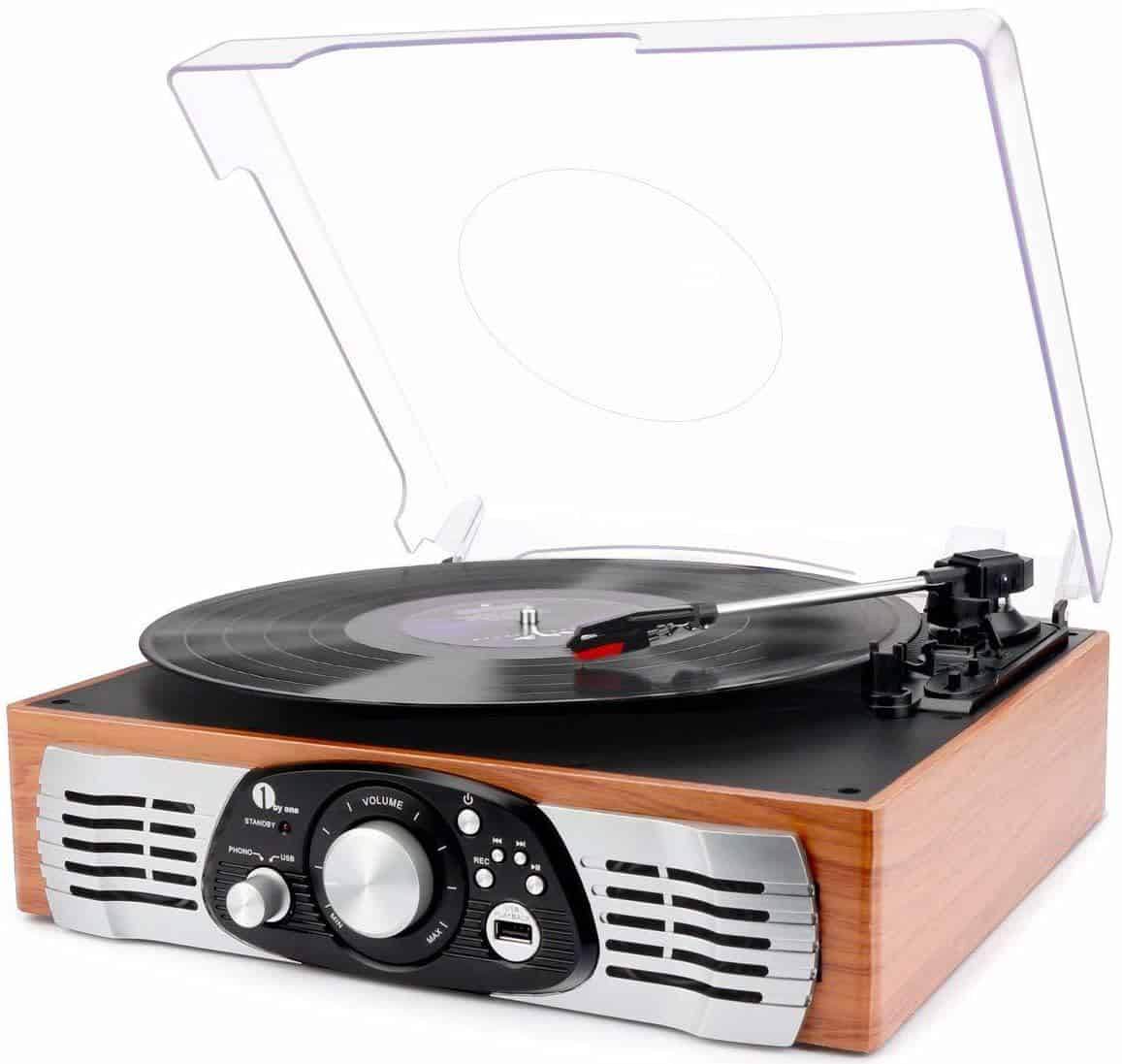 Best Cheap Record Player with Speakers – 1byOne