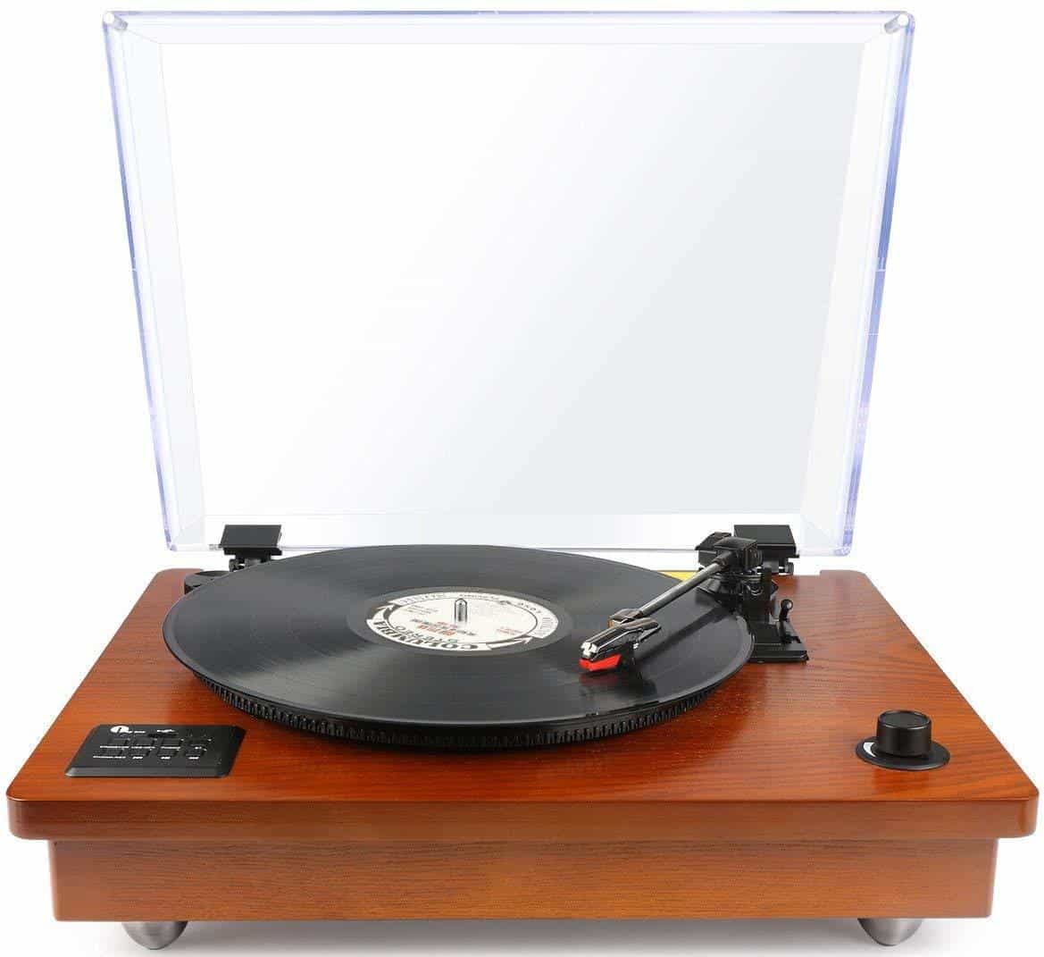Best Portable Record Player with Speakers – 1byOne