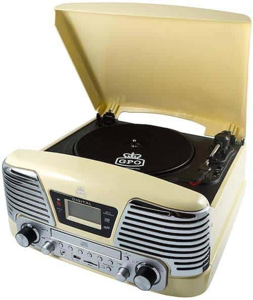 GPO Memphis Retro Record Player Turntable
