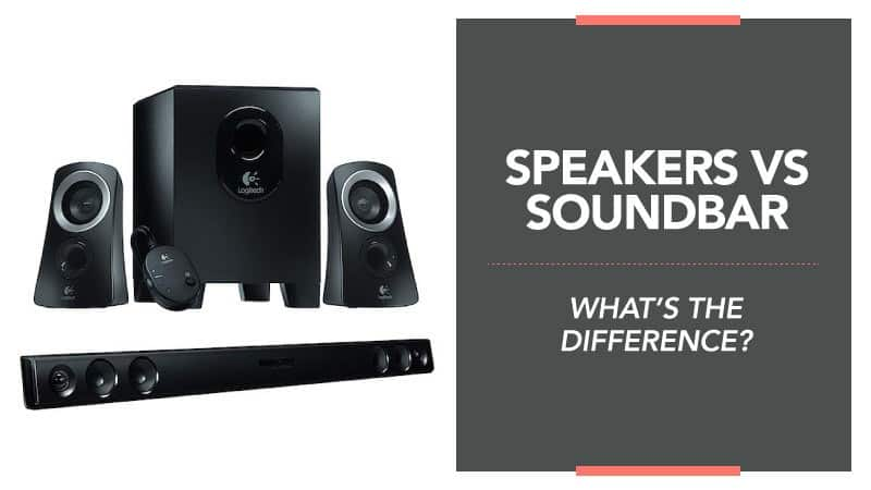 Speaker vs Soundbar – What's the Difference?